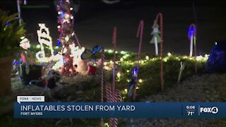 Christmas displays stolen