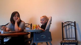 Baby Calls For Mom In The Strangest Way - Video