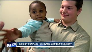 Two-year-old's adoption journey complete - Video