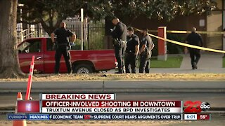 Bakersfield Police involved in a shooting after suspect tries to steal construction equipment