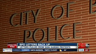 BPD letters back up on building follow protests