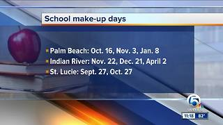Palm Beach County school district approves 3 make-up days for Irma - Video