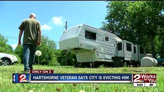Veteran kicked out of home by city, says he could be homeless - Video