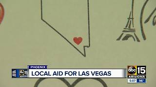 Local businesses rallying for Las Vegas shooting victims - Video