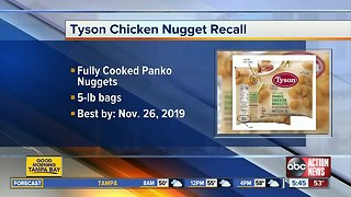Tyson recalls more than 36K pounds of chicken nuggets