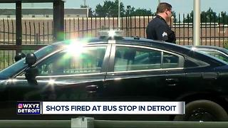 Shots fired at Detroit bus stop - Video