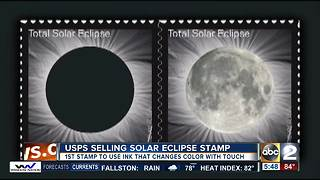 A 'hot' commodity: Solar Eclipse stamps change with heat - Video
