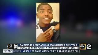 Victims families react as Baltimore approaches 300 homicides - Video