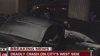 Person killed in crash on Indy's west side - Video