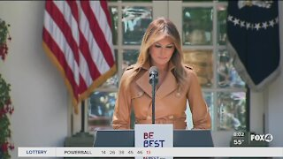 First Lady Melania Trump speaks on violence at the Capital