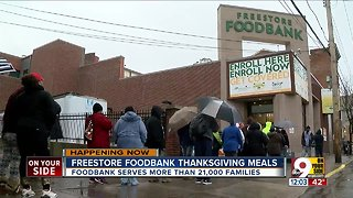 Freestore Foodbank provides Thanksgiving meals - Video