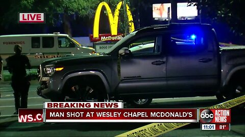 Deputies investigating carjacking at a McDonald's in Pasco County, one person shot