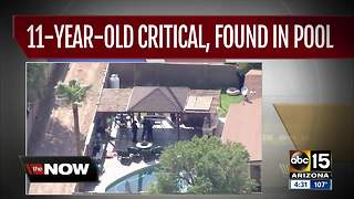 11-year-old girl found in Tempe pool - Video