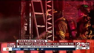 Double fatal house fire in west Tulsa - Video