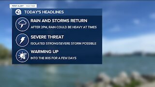 More storms possible