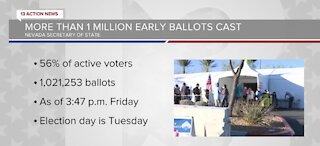 Over 1 million Nevadans took part in early voting