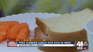 Olathe Public Library provides kids free lunch during summer months