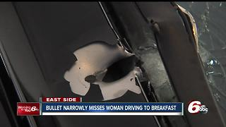 Bullet narrowly misses 76-year-old woman driving to breakfast - Video