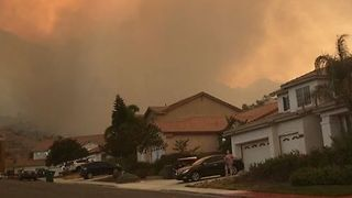 Brush Fire Smoke Fills Skies Above Moreno Valley - Video