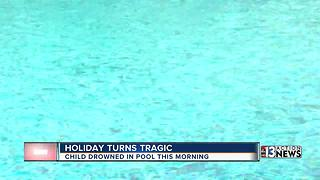 Holiday turns tragic after child drowns in Las Vegas pool - Video
