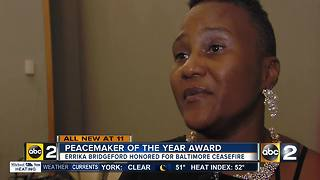 Baltimore woman named Peacemaker of the Year - Video