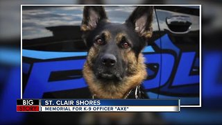 Memorial service for fallen K-9 Officer Axe