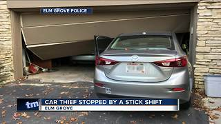 Attempted Elm Grove car theft stopped because thief can't drive stick shift - Video