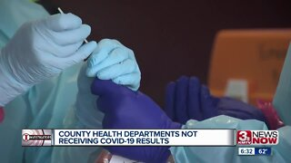 County health departments not receiving coronavirus test results