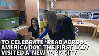 Melania Trump Reads To Sick Children On 'Read Across America Day' - Video