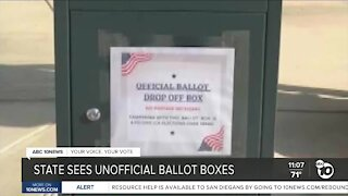 State sees unofficial ballot boxes