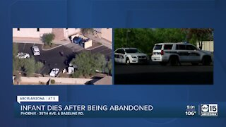 Infant dies after being abandoned behind Phoenix business