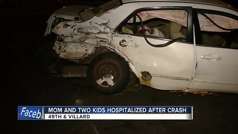 Child thrown and pinned under car after Milwaukee crash, two others also hurt