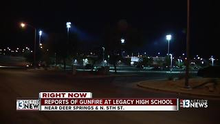 Reports of gunfire at Legacy High School - Video