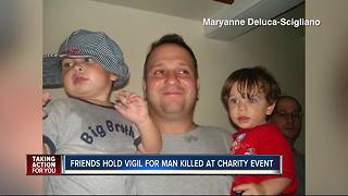 Friends hold vigil for man killed at charity event - Video