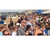 Hundreds Show Up to See Rehabilitated Sea Turtles Back into Ocean