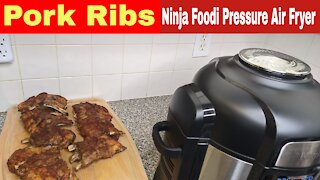Fall off the bone Baby Back Ribs, Ninja Foodi Pressure Cooker and Air Fryer
