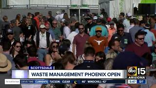 Celebrities set to tee off at the Waste Management Phoenix Open - Video