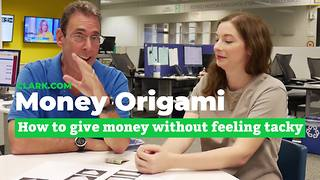 Make money origami to personalize cash gifts