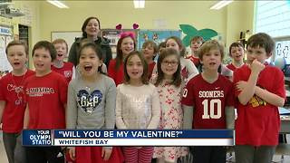 St. Monica's School in Whitefish Bay celebrates Valentine's Day a day early - Video