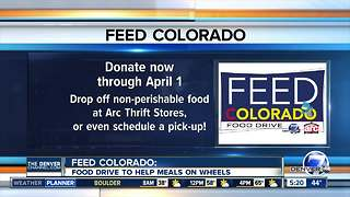 Feed Colorado food drive will help Meals on Wheels - Video