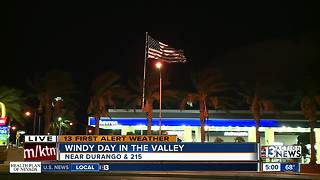 Windy day ahead for Las Vegas valley - Video