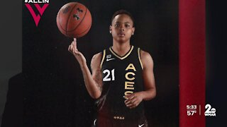 Towson guard Kionna Jeter drafted by WNBA's Las Vegas Aces