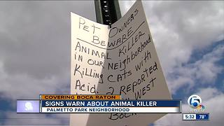 Signs warn of animal killings in West Boca Raton - Video