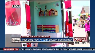 2 Cares For The Community Book Drive to Benefit McAuliffe Elementary School