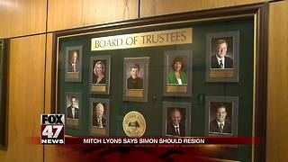 MSU Trustee Lyons calls for Simon to resign - Video