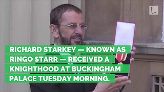 Ringo Starr Finally Knighted 21 Years after Paul McCartney, Then Jokes About His Medal - Video