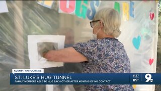 Tucson families reunite via 'Hug Tunnel' after months of no contact