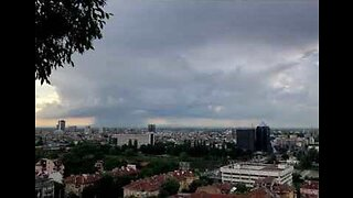 Timelapse Shows Storm Clouds Form Over Bulgarian City
