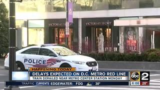 Delays on D.C. Metro Red Line after train derailment - Video