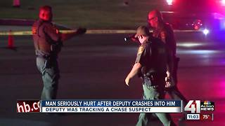 Deputy, bystander injured following crash during suspect pursuit - Video